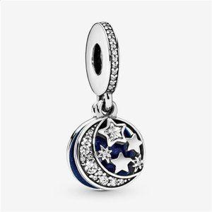 Moon & Blue Sky pendant, Pandora bracelet charm